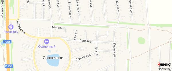 12-я улица на карте Солнечного села с номерами домов