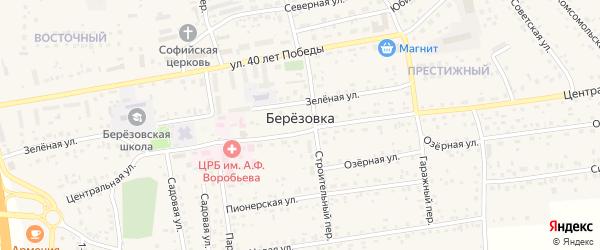Улица Евдокимова на карте села Березовки с номерами домов