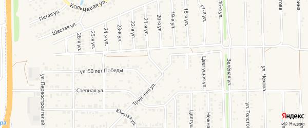 Трудовая улица на карте Нового поселка с номерами домов