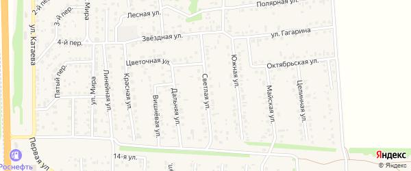 Светлая улица на карте села Березовки с номерами домов