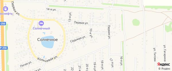 Седьмая улица на карте садового некоммерческого товарищества Вагонника-2 с номерами домов