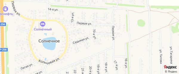 Седьмая улица на карте Солнечного села с номерами домов