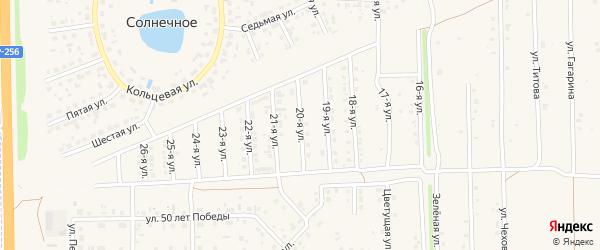 20-я улица на карте Солнечного села с номерами домов