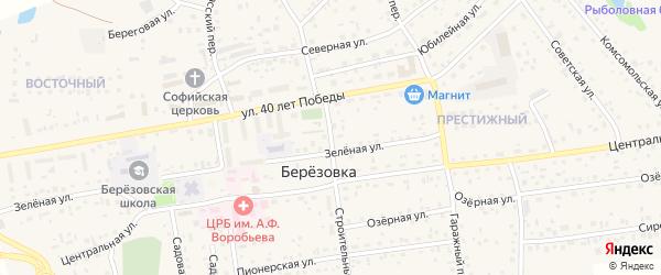 Строительный переулок на карте села Березовки с номерами домов