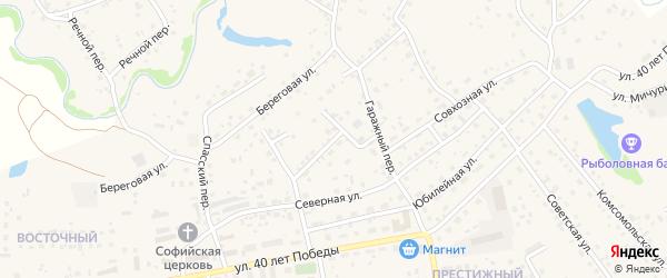 Улица Энергетиков на карте села Березовки с номерами домов