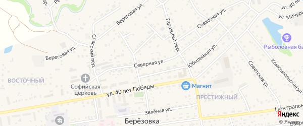 Северная улица на карте садового некоммерческого товарищества Геолога-1 с номерами домов