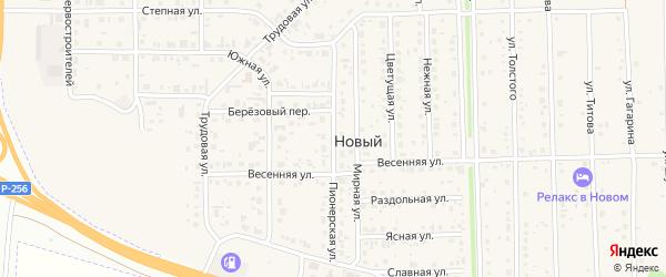 Пионерская улица на карте Нового поселка с номерами домов
