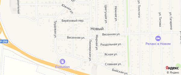 Весенняя улица на карте садового некоммерческого товарищества Лесные поляны с номерами домов