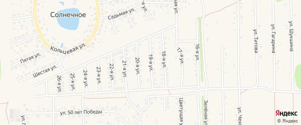 19-я улица на карте садового некоммерческого товарищества N 12 с номерами домов