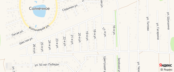 19-я улица на карте Солнечного села с номерами домов