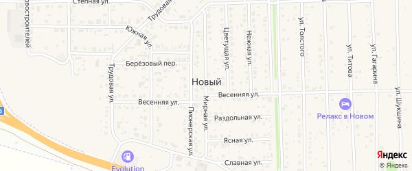 Парковая 1-я улица на карте Нового поселка с номерами домов