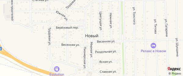 Прудская улица на карте Нового поселка с номерами домов