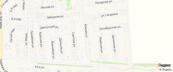 Южная улица на карте Новоалтайска с номерами домов