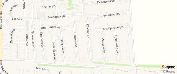 Южная улица на карте поселка Березовки с номерами домов