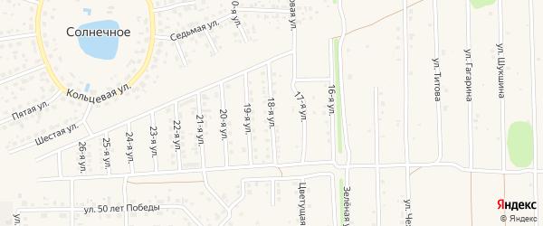 18-я улица на карте Солнечного села с номерами домов
