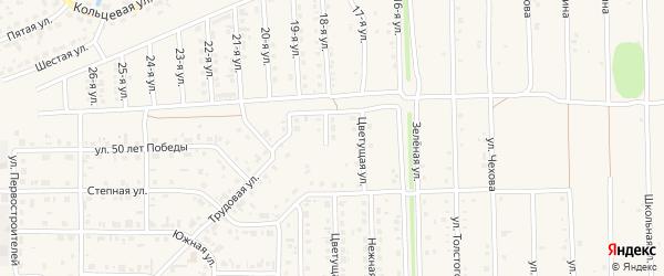 Алтайский переулок на карте Нового поселка с номерами домов