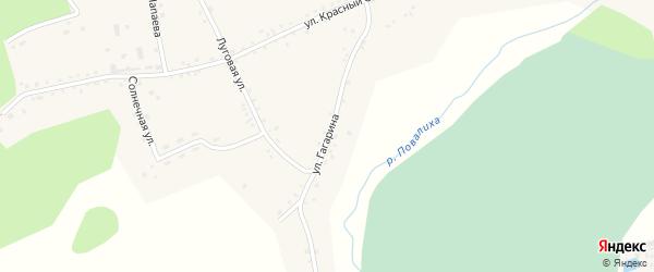Улица Гагарина на карте Первомайского села с номерами домов