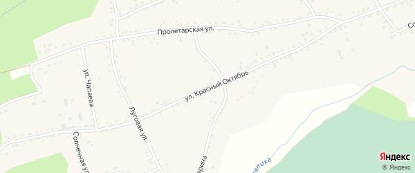 Улица Красный Октябрь на карте Первомайского села с номерами домов