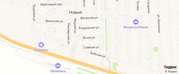 Ясная улица на карте Нового поселка с номерами домов