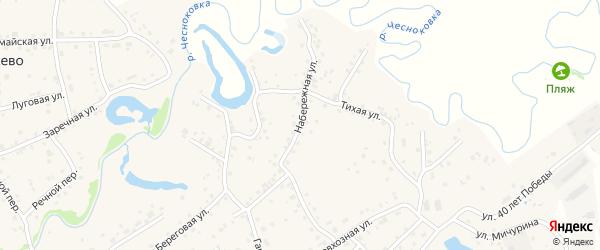 Набережная улица на карте села Березовки с номерами домов