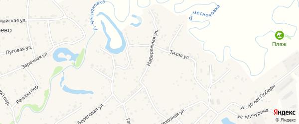 Набережная улица на карте садового некоммерческого товарищества Автомобилиста с номерами домов