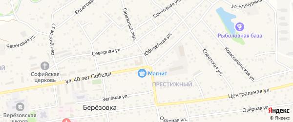 Гаражный переулок на карте села Березовки с номерами домов