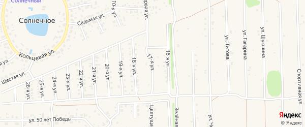 17-я улица на карте Солнечного села с номерами домов