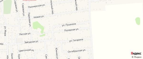 Полярная улица на карте села Березовки с номерами домов