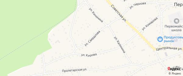 Улица Свердлова на карте Первомайского села с номерами домов