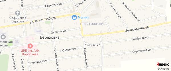 Центральная улица на карте разъезда Лосихи с номерами домов