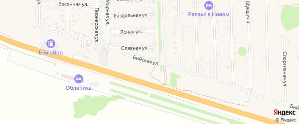 Бийская улица на карте Нового поселка с номерами домов