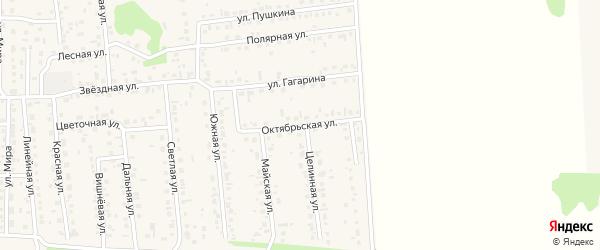 Октябрьская улица на карте села Березовки с номерами домов