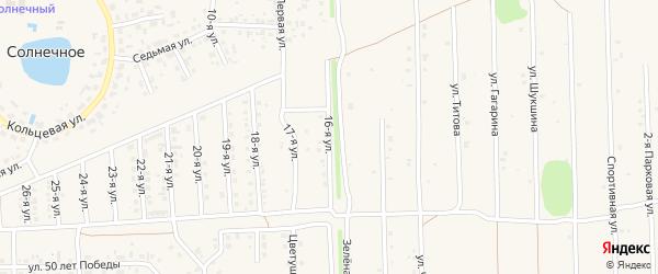 16-я улица на карте Солнечного села с номерами домов