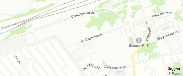 Улица Строителей на карте Новоалтайска с номерами домов