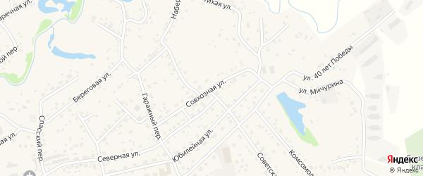Совхозная улица на карте села Березовки с номерами домов