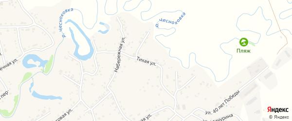 Тихая улица на карте садового некоммерческого товарищества Строителя НКРЗ с номерами домов