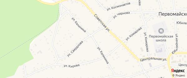 Улица Калинина на карте Первомайского села с номерами домов