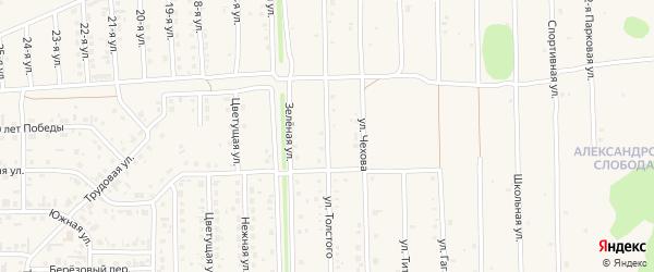 Улица Толстого на карте Нового поселка с номерами домов
