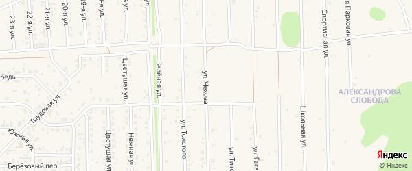 Улица Чехова на карте Нового поселка с номерами домов