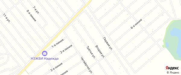 21-я улица на карте садового некоммерческого товарищества Медика с номерами домов