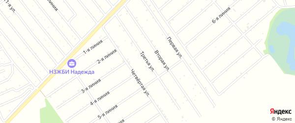 3-я улица на карте садового некоммерческого товарищества Медика с номерами домов