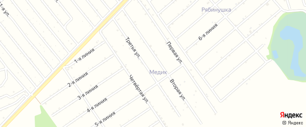 15-я улица на карте садового некоммерческого товарищества Медика с номерами домов