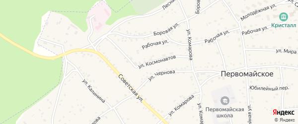 Улица Космонавтов на карте Первомайского села с номерами домов