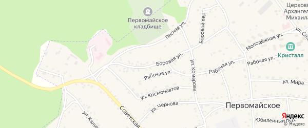 Боровая улица на карте Первомайского села с номерами домов