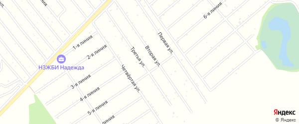 4-я улица на карте садового некоммерческого товарищества Медика с номерами домов