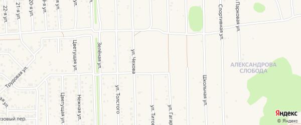 Улица Титова на карте Нового поселка с номерами домов