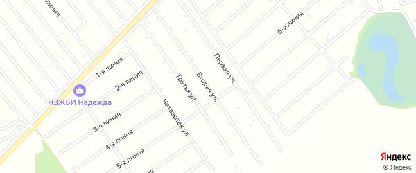 2-я улица на карте садового некоммерческого товарищества Медика с номерами домов