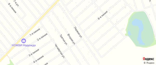 1-я линия на карте садового некоммерческого товарищества Рябинушки с номерами домов