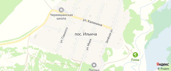 Улица Мира на карте поселка Ильича с номерами домов