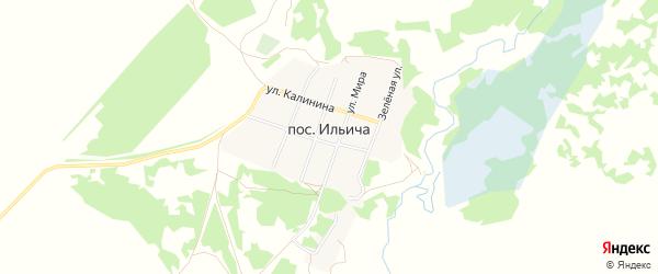 Карта поселка Ильича в Алтайском крае с улицами и номерами домов